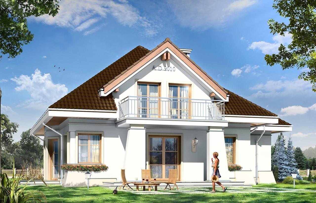 Projekt domu Figiel 2 - wizualizacja tylna