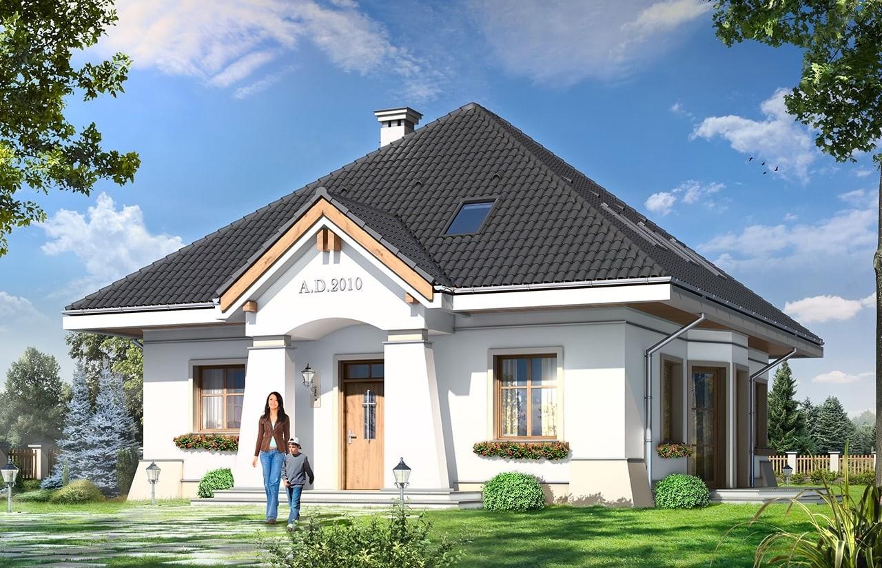 Projekt domu Figiel - wizualizacja frontowa