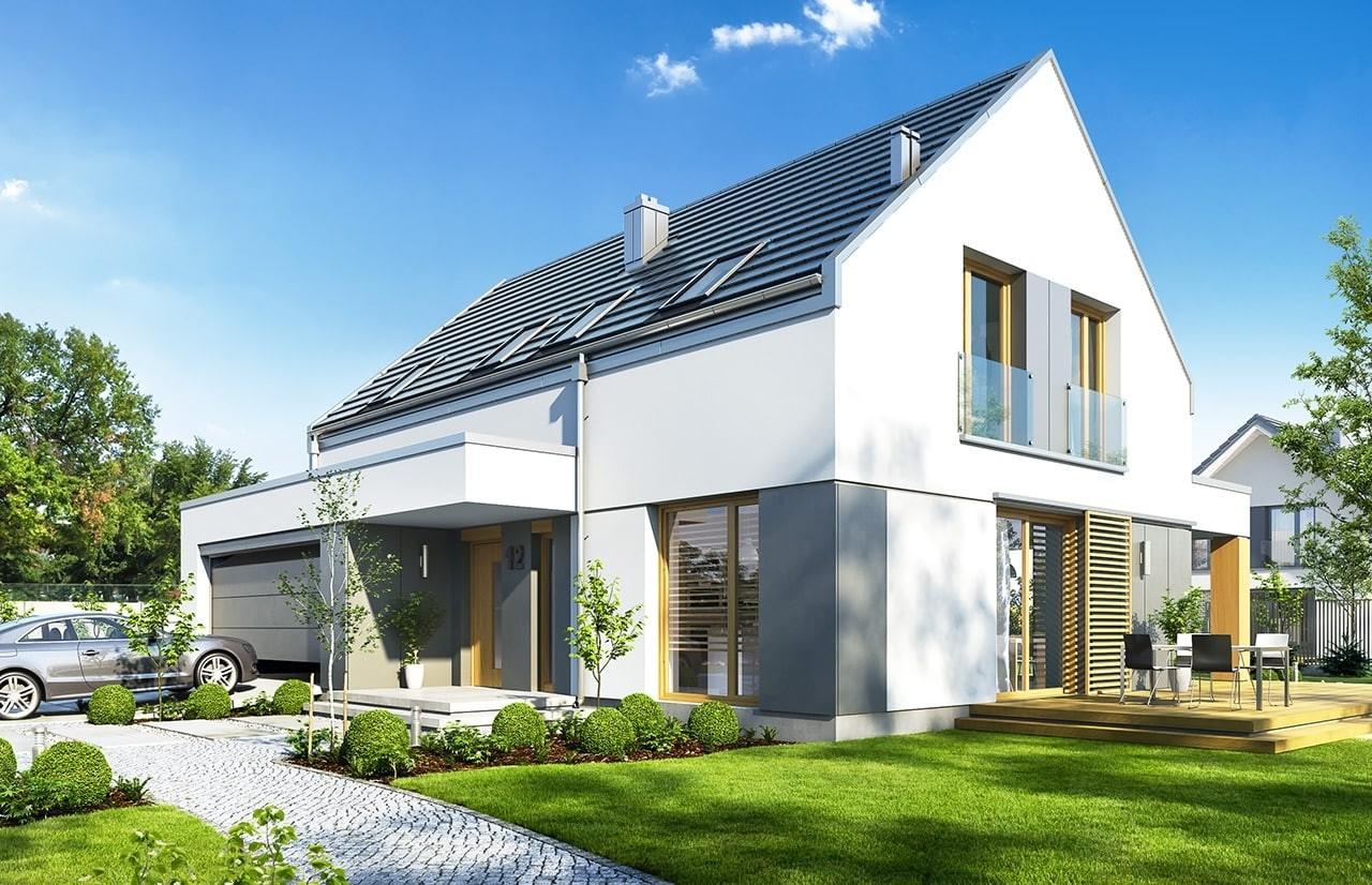 Projekt domu Fokstrot - wizualizacja frontowa