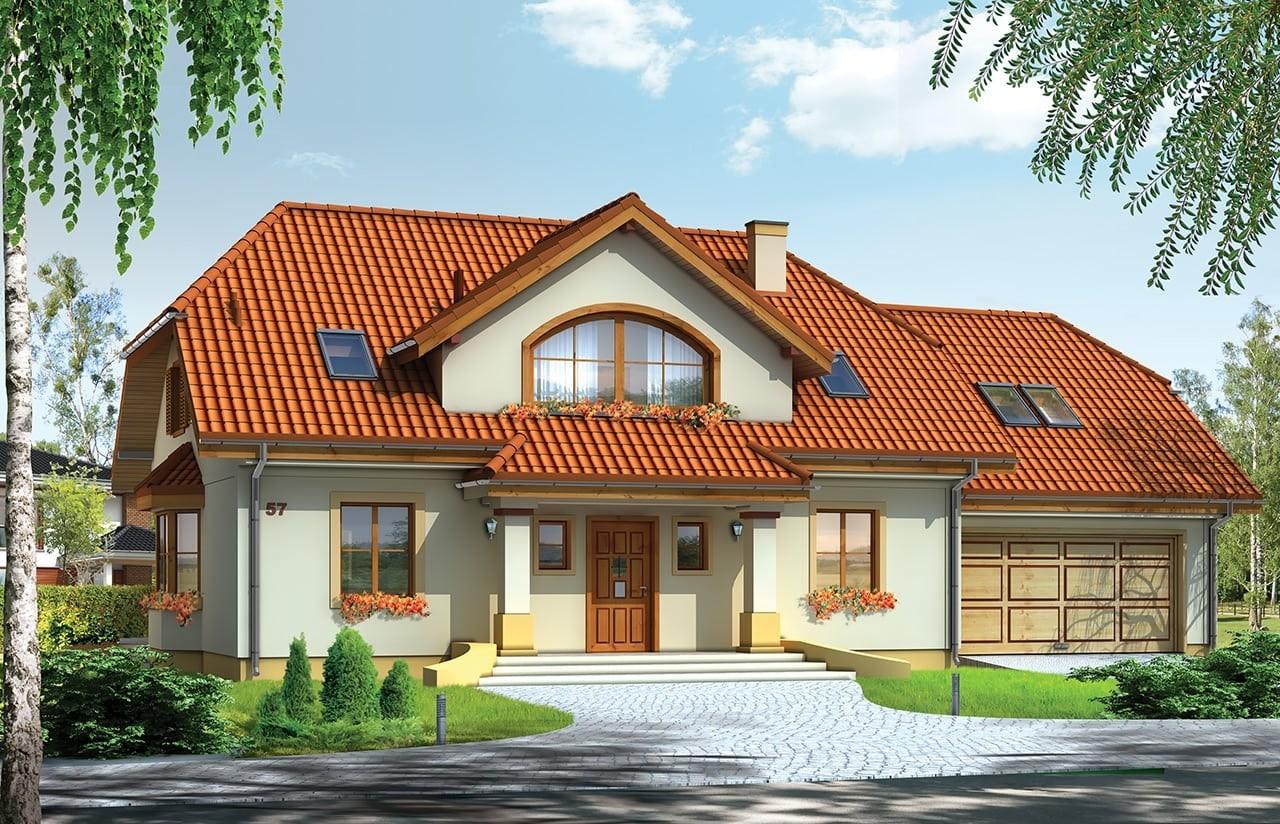 Projekt domu Fokus 2 - wizualizacja frontowa