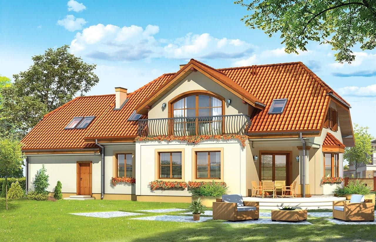 Projekt domu Fokus 2 - wizualizacja tylna