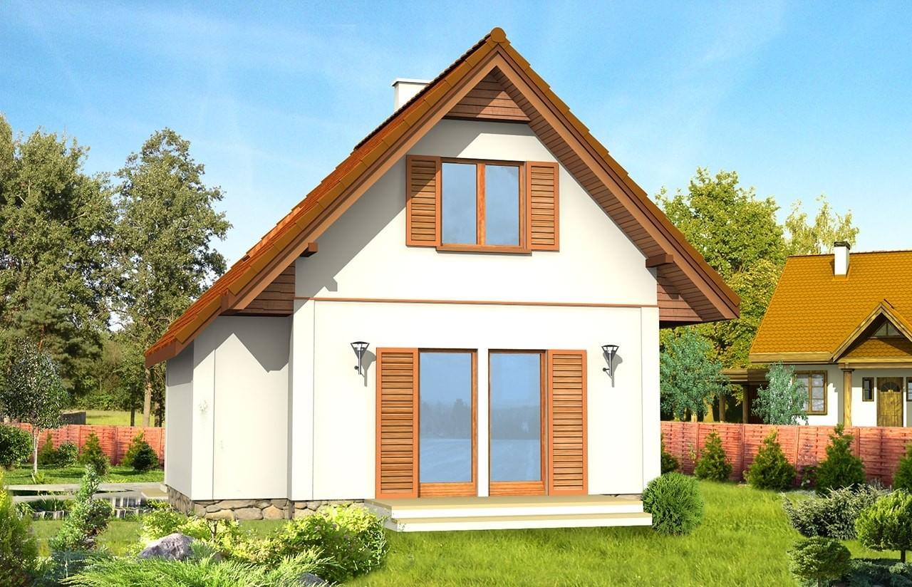 Projekt domu Francik - wizualizacja tylna