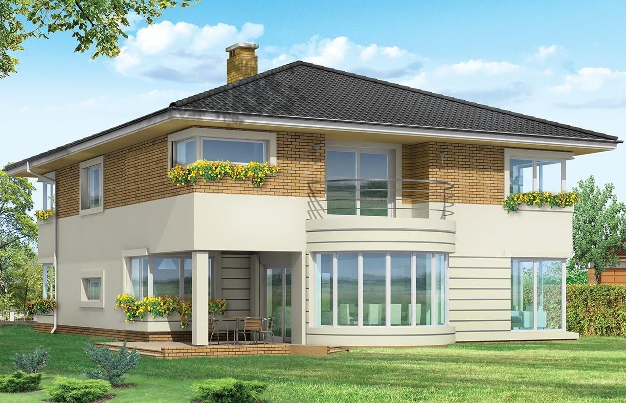 Projekt domu Gabriela 2 - wizualizacja tylna odbicie lustrzane