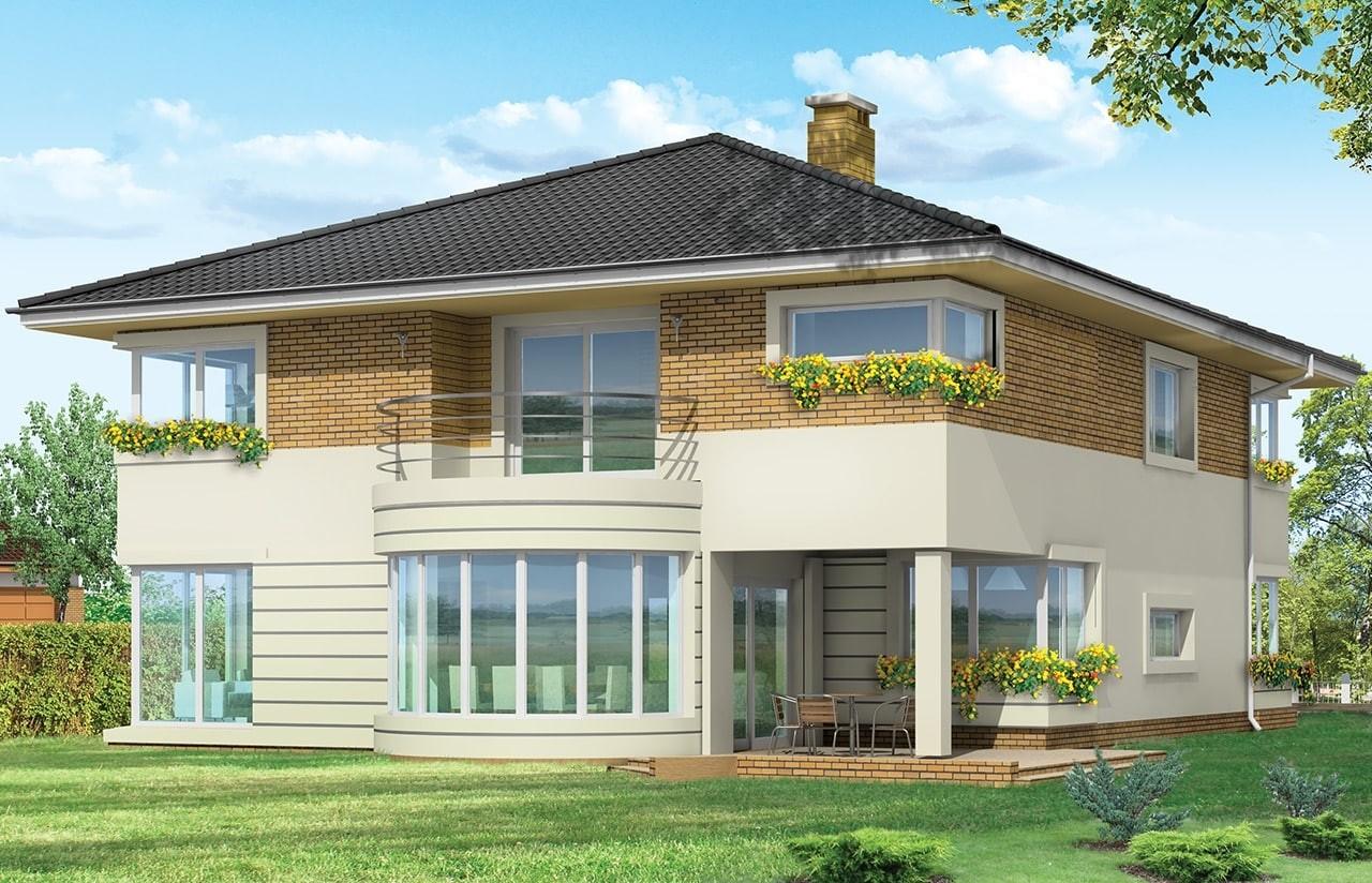 Projekt domu Gabriela 2 - wizualizacja tylna