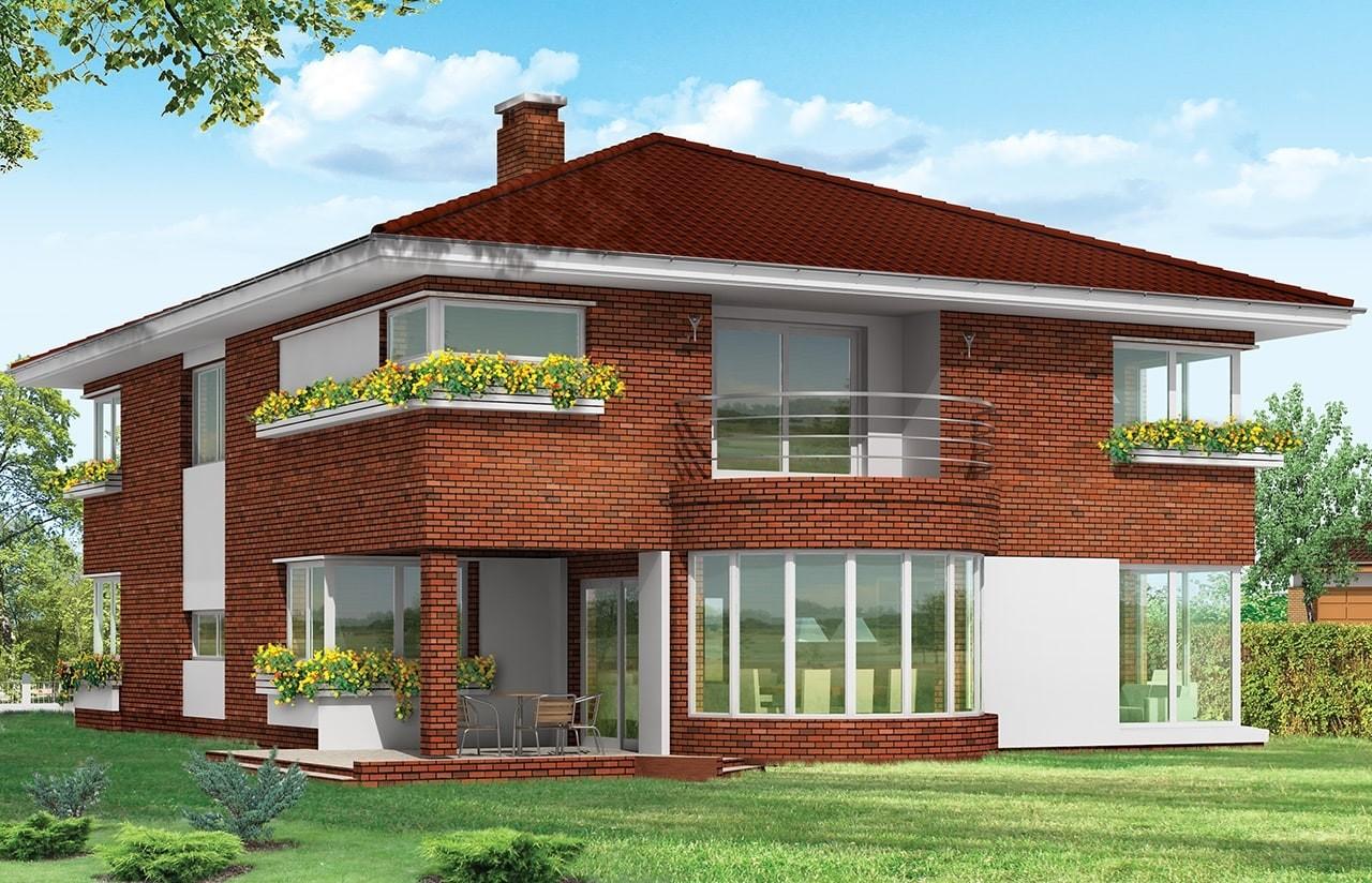 Projekt domu Gabriela 3 - wizualizacja tylna odbicie lustrzane
