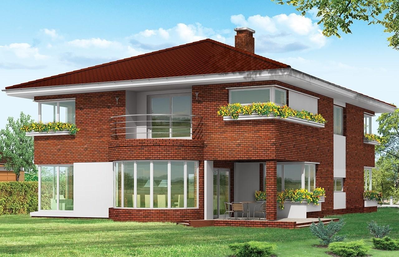 Projekt domu Gabriela 3 - wizualizacja tylna