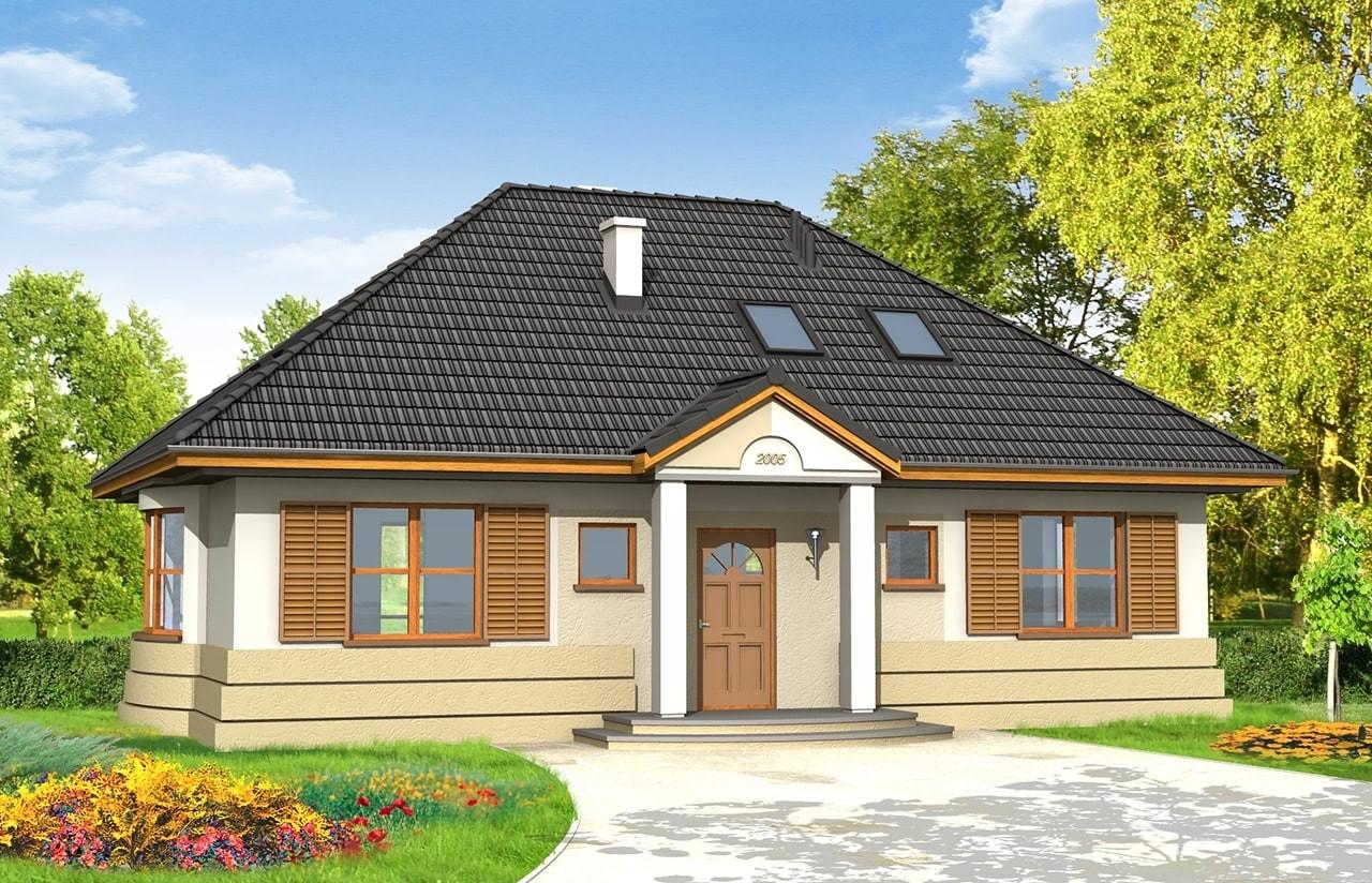 Projekt domu Gargamel - wizualizacja frontowa