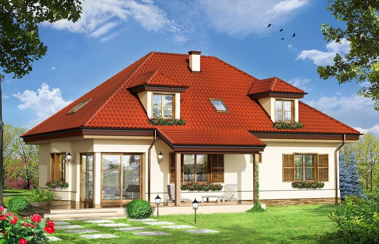 Projekt domu Hetman - wizualizacja tylna