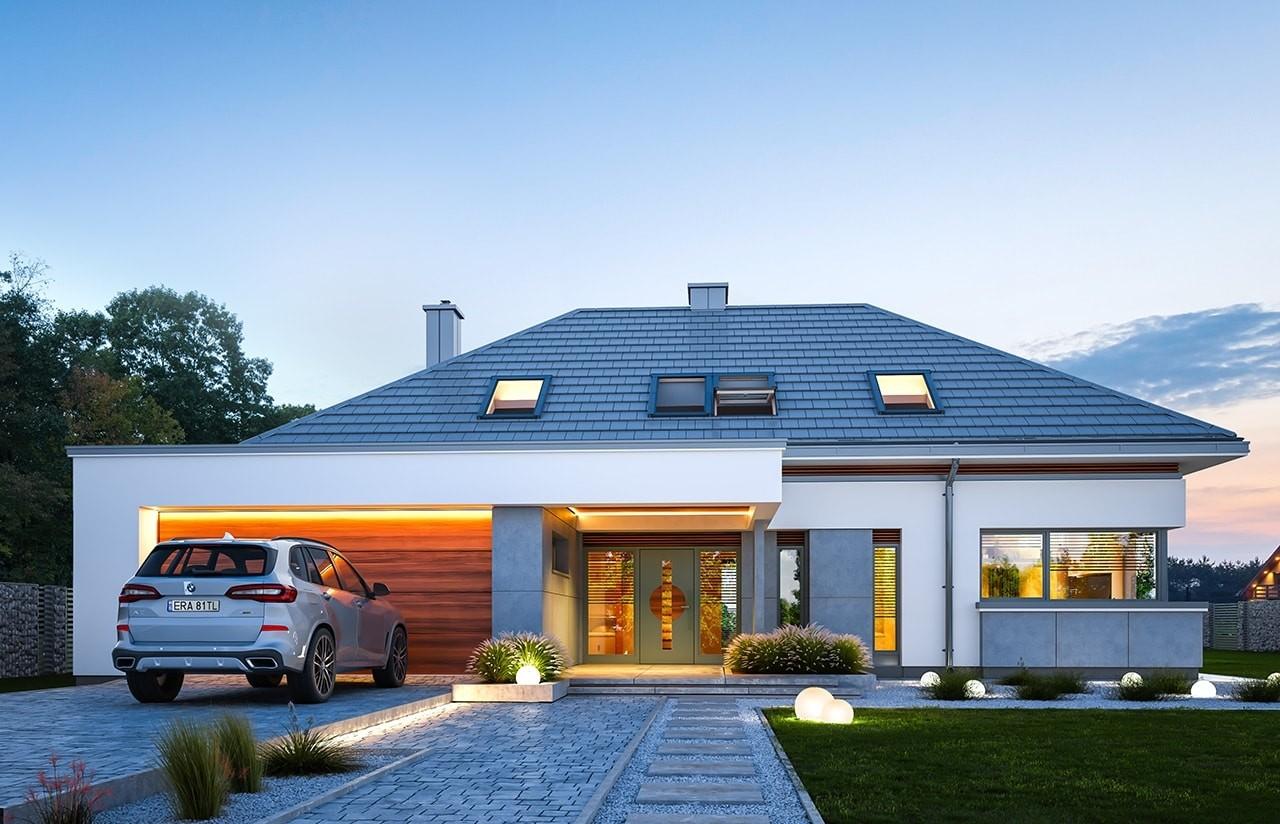 Projekt domu Hiacynt - wizualizacja frontu