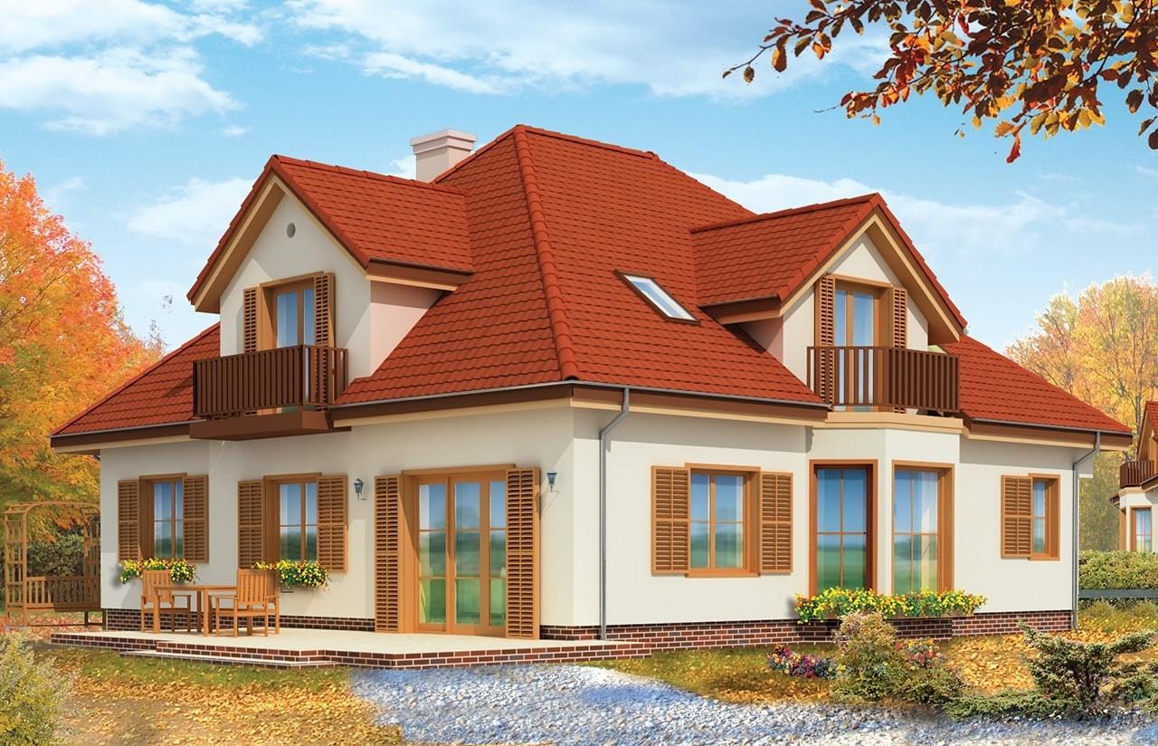 Projekt domu Hornówek 2 - wizualizacja tylna