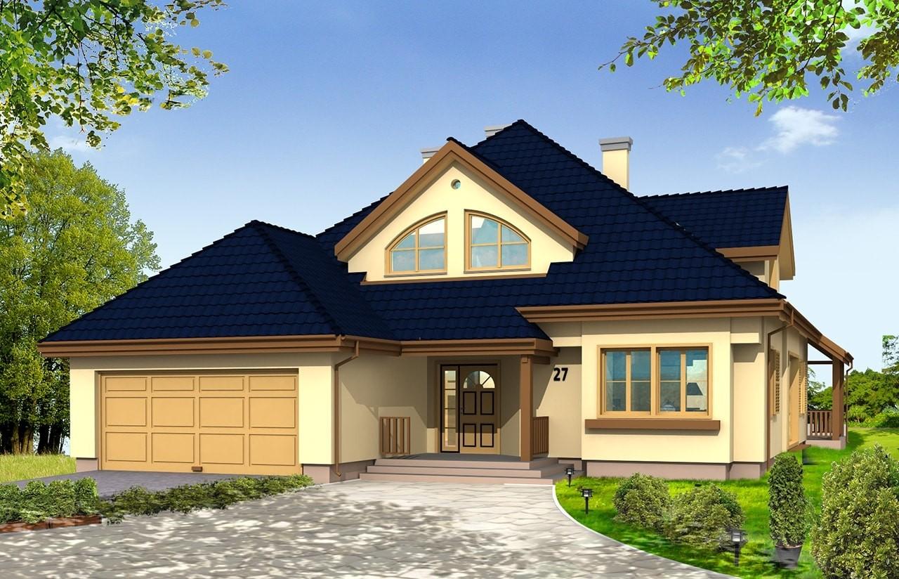 Projekt domu Hornówek - wizualizacja frontowa