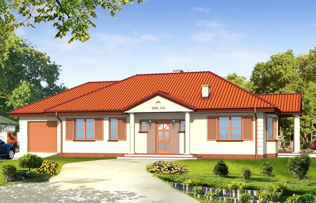 Projekt domu Jak marzenie 3 - wizualizacja frontowa odbicie lustrzane