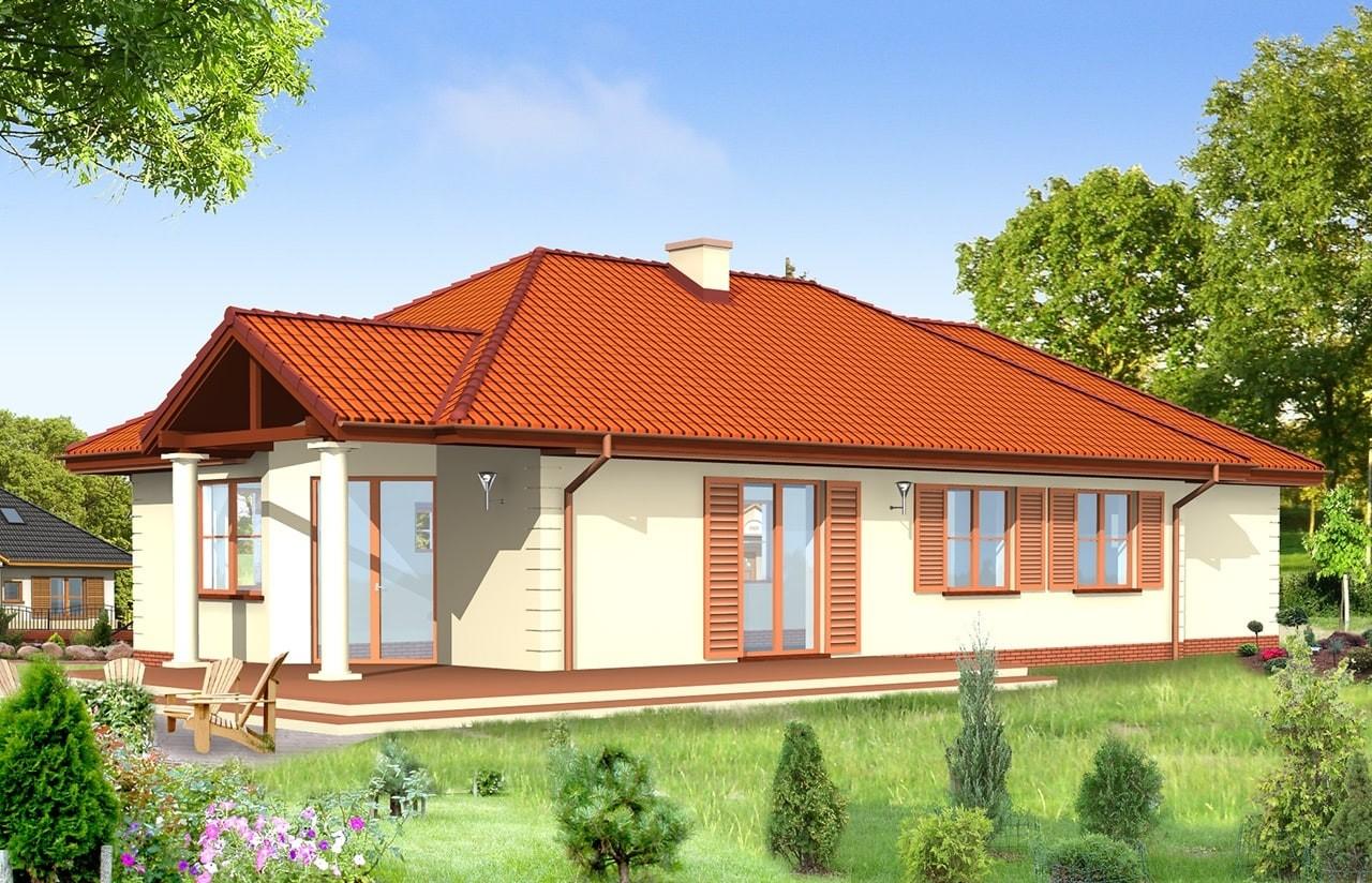 Projekt domu Jak marzenie 3 - wizualizacja tylna odbicie lustrzane