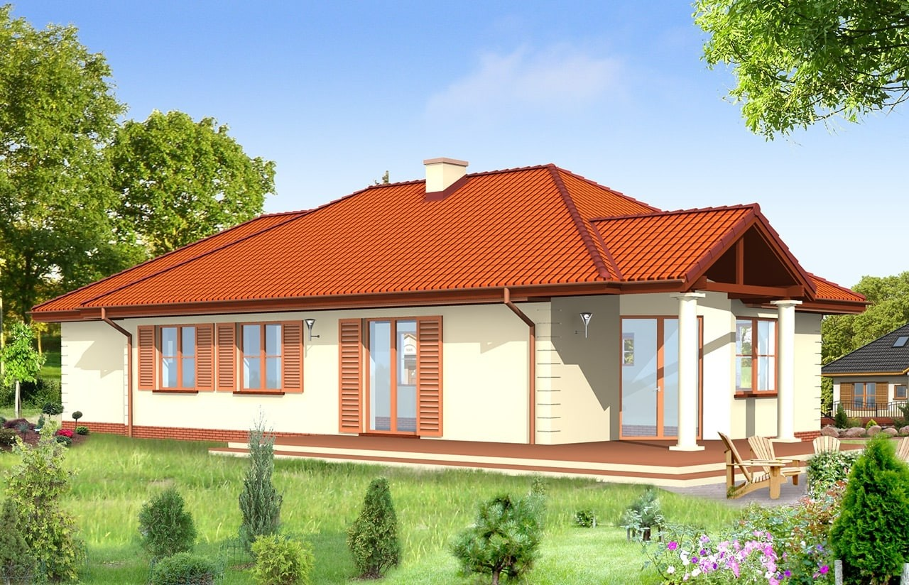 Projekt domu Jak marzenie 3 - wizualizacja tylna