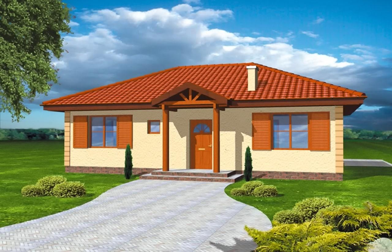 Projekt domu Jak marzenie - wizualizacja frontowa odbicie lustrzane