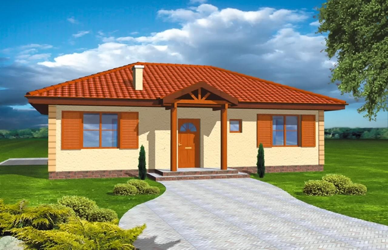 Projekt domu Jak marzenie - wizualizacja frontowa