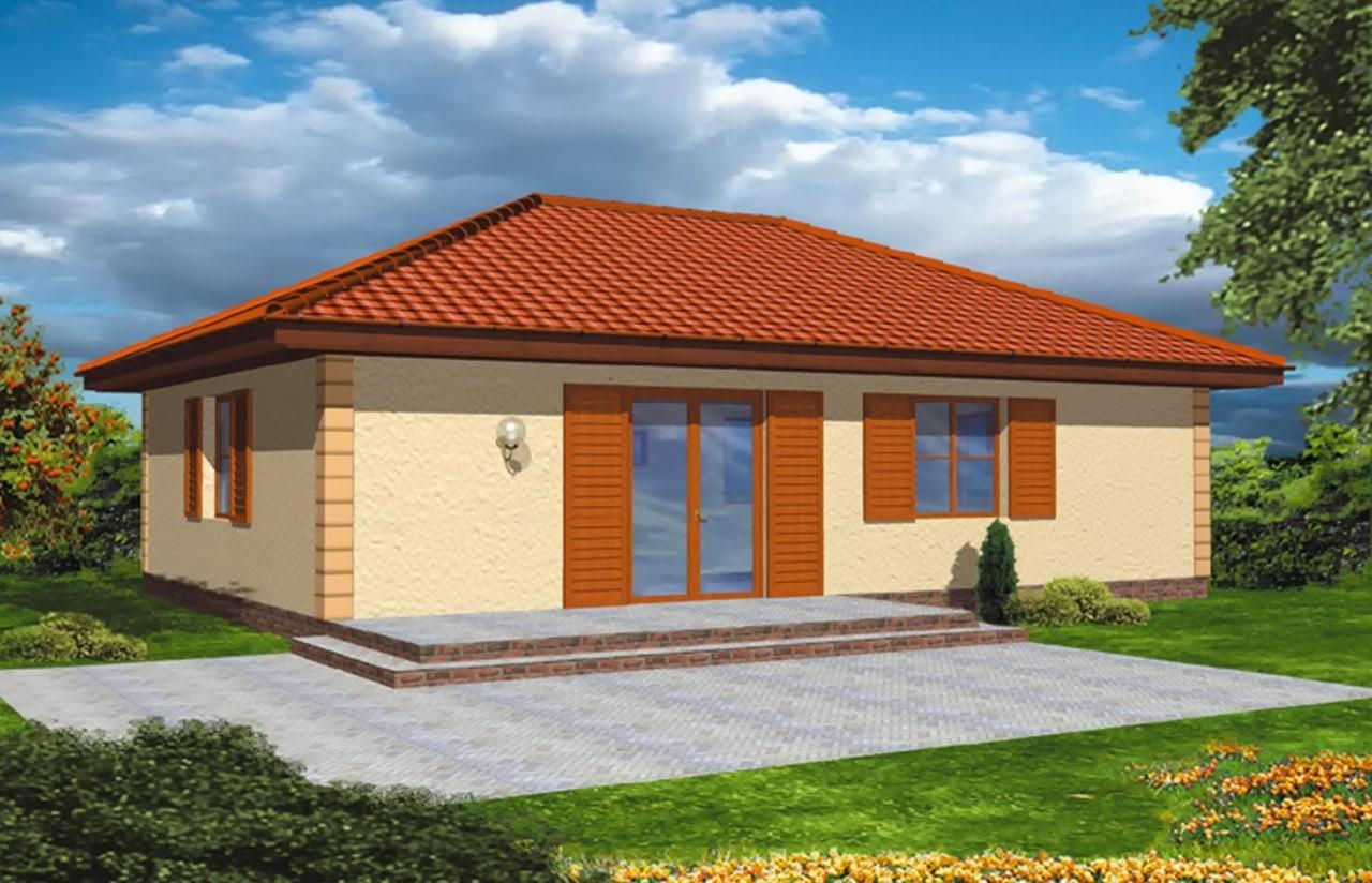 Projekt domu Jak marzenie - wizualizacja tylna odbicie lustrzane