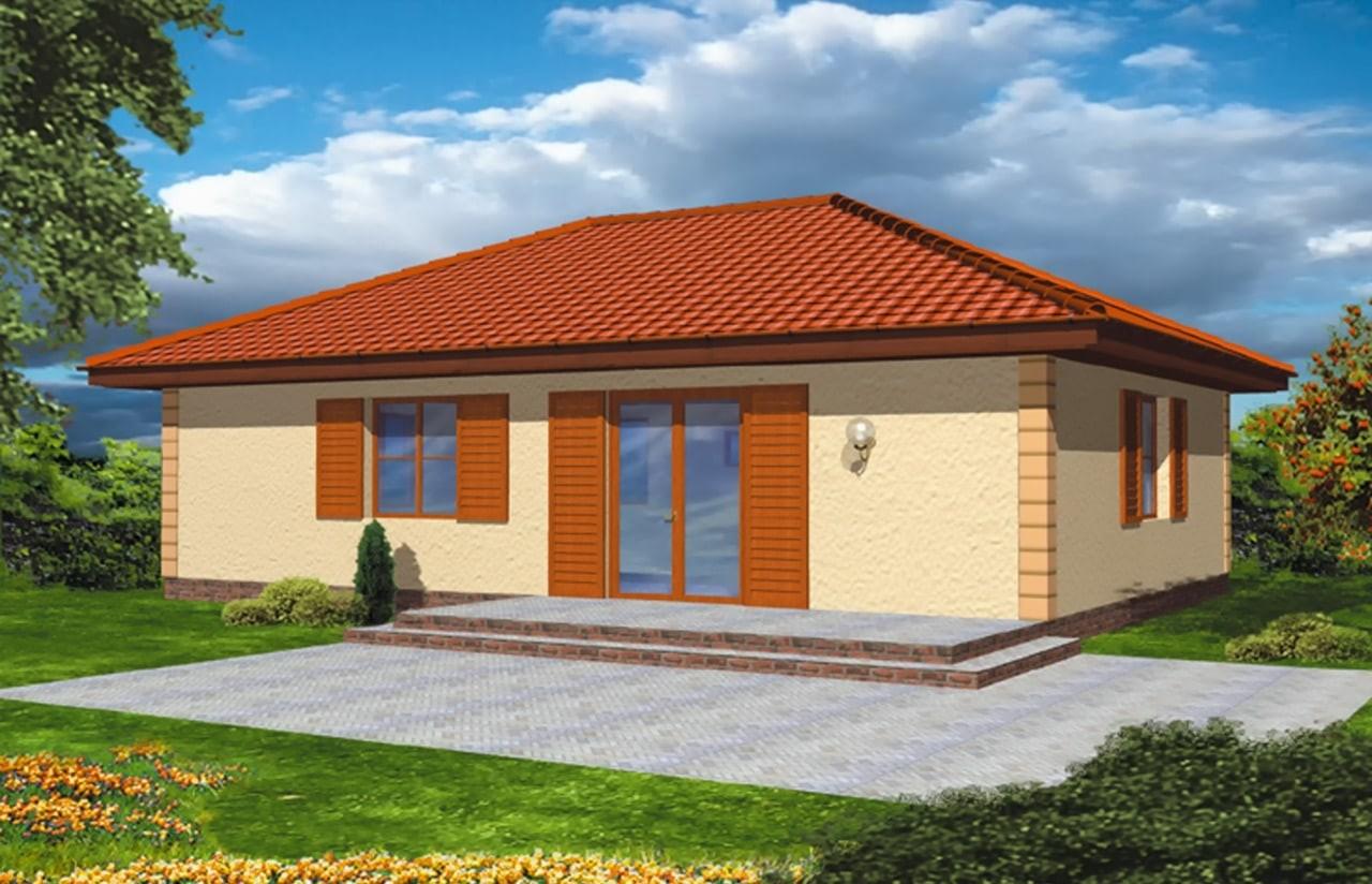 Projekt domu Jak marzenie - wizualizacja tylna