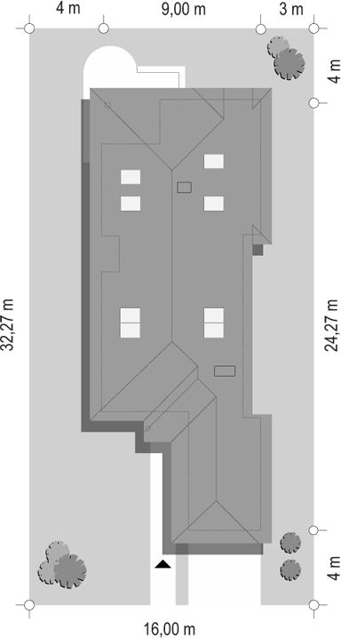 Jamnik 2 - sytuacja odbicie lustrzane