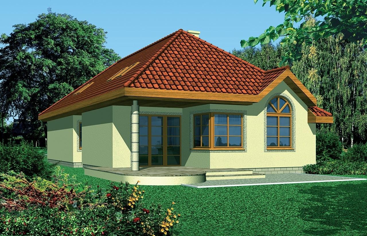 Projekt domu Jamnik 2 - wizualizacja tylna