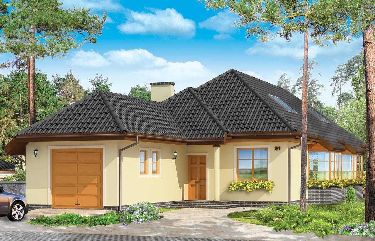 Projekt domu Jamnik 3 - wizualizacja frontowa