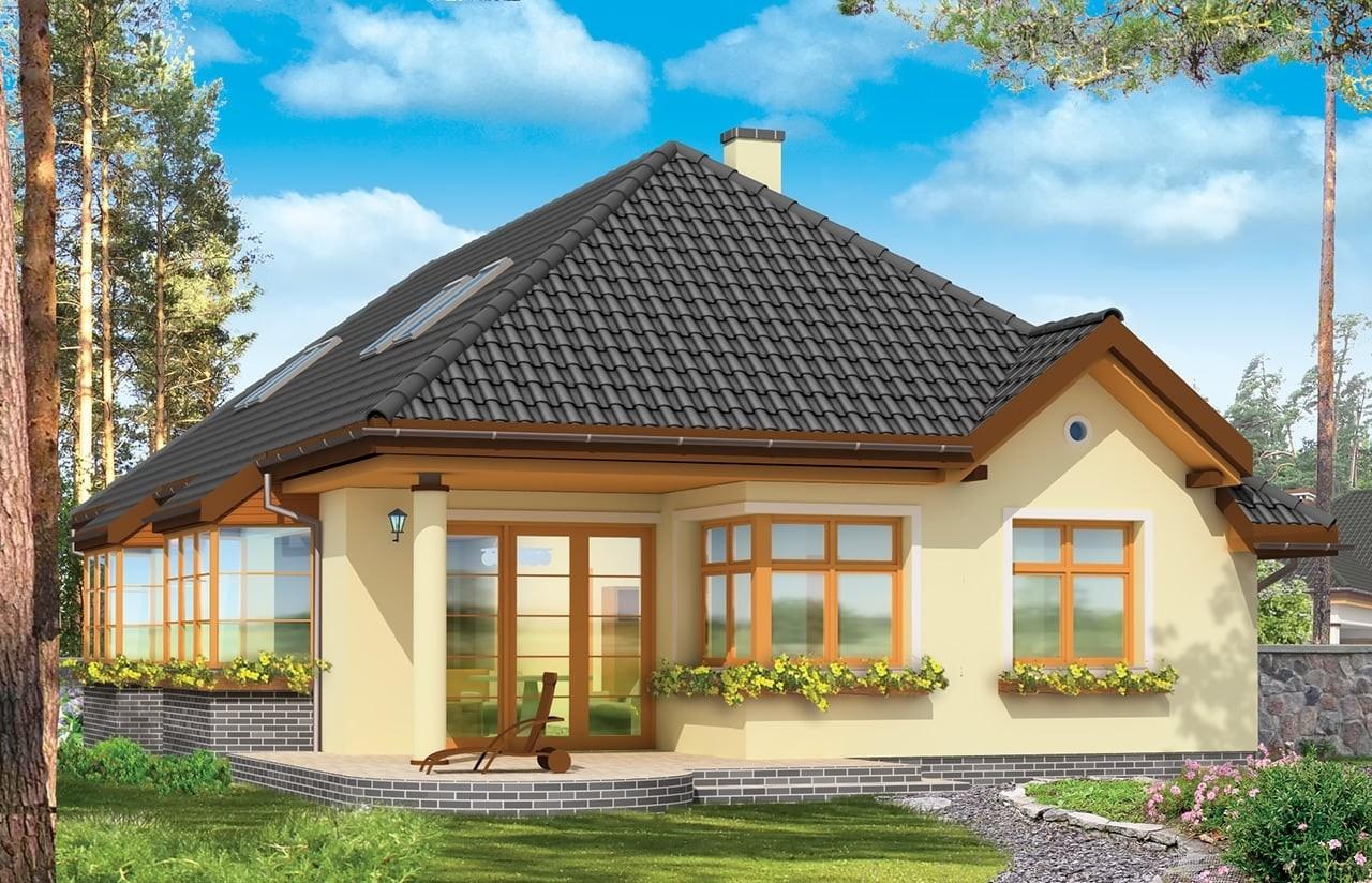 Projekt domu Jamnik 3 - wizualizacja tylna