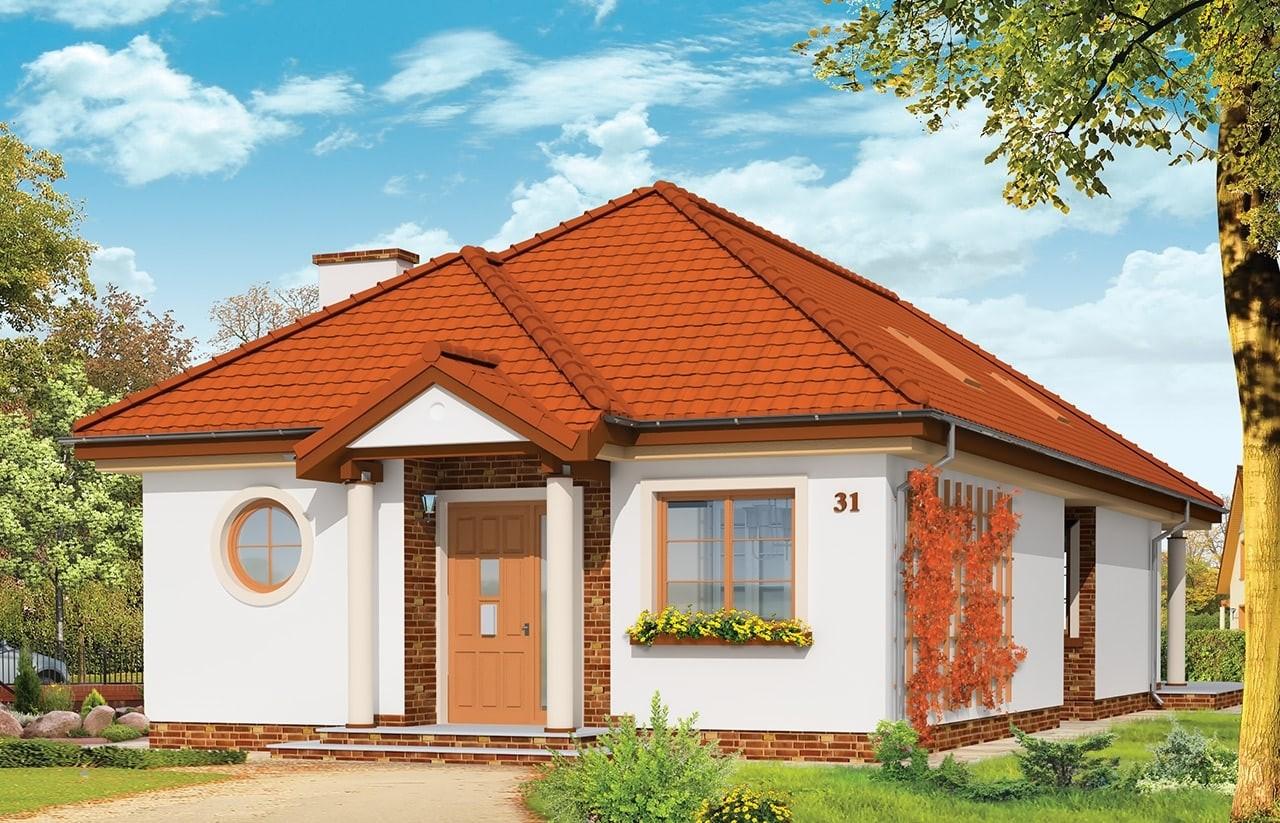 Projekt domu Jamnik - wizualizacja frontowa