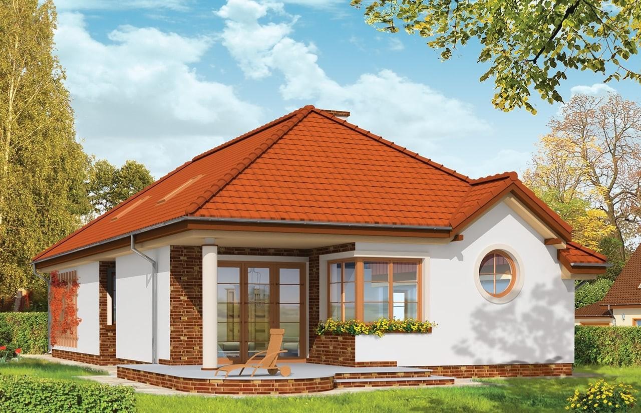 Projekt domu Jamnik - wizualizacja tylna