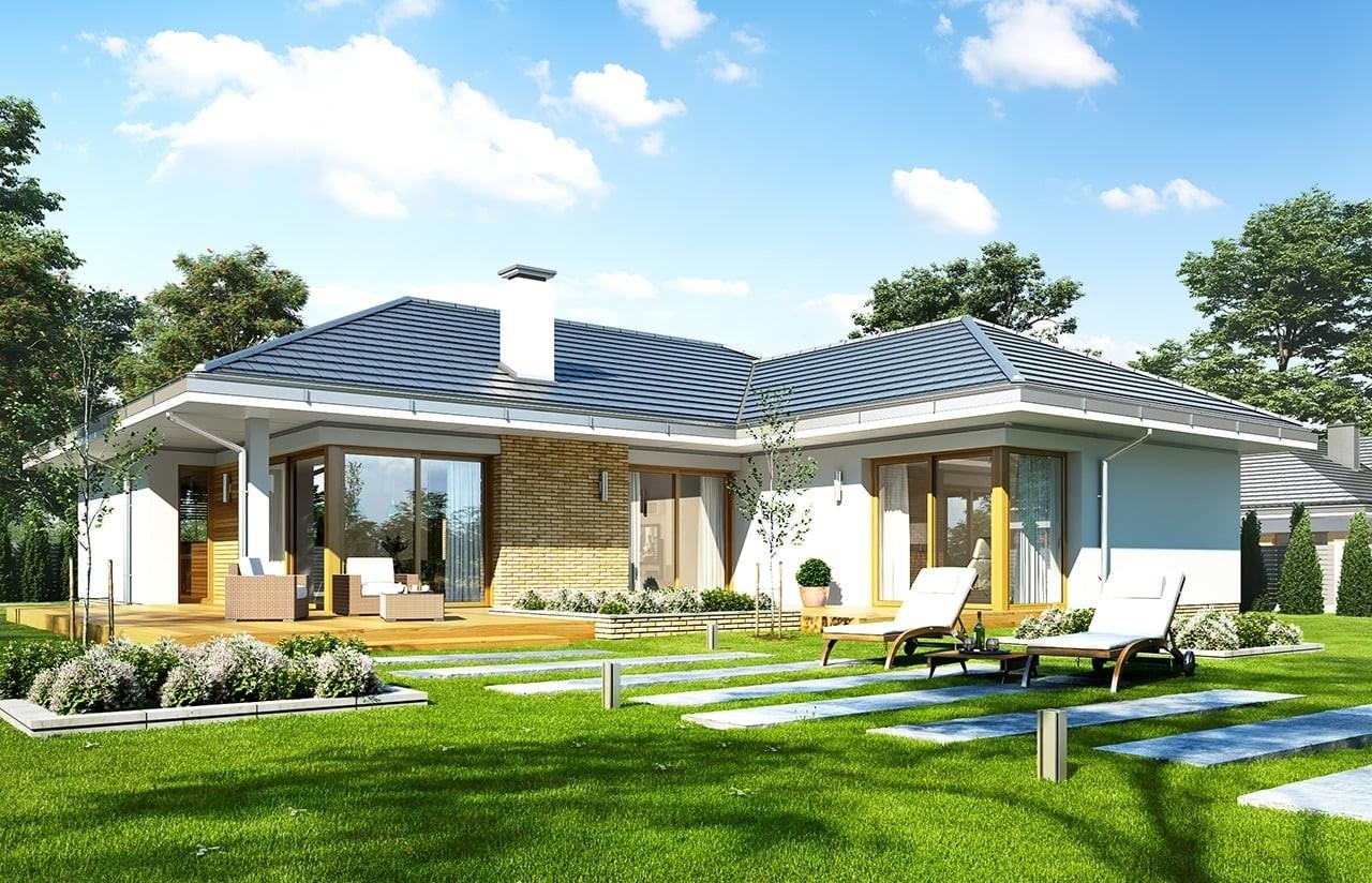 Projekt domu Jedyny - wizualizacja tylna