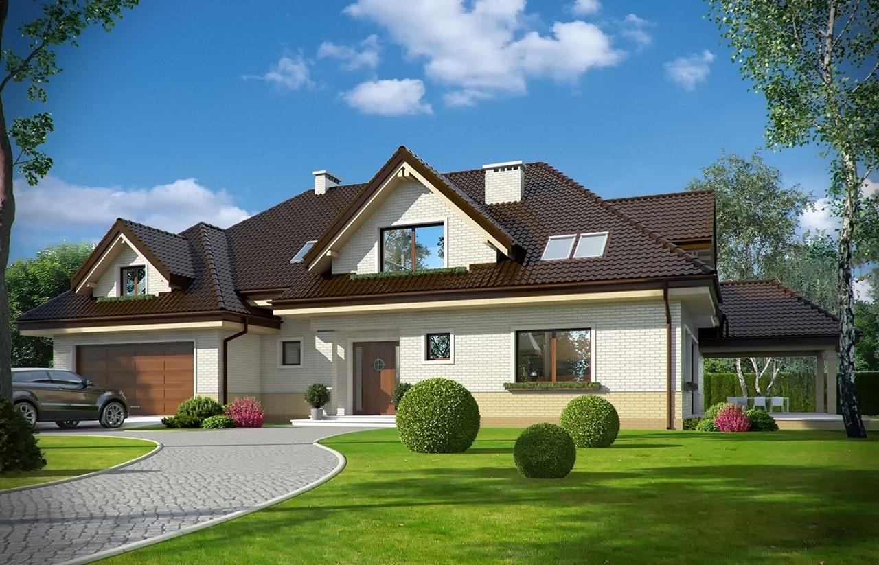 Projekt domu Joanna 2 - wizualizacja frontowa