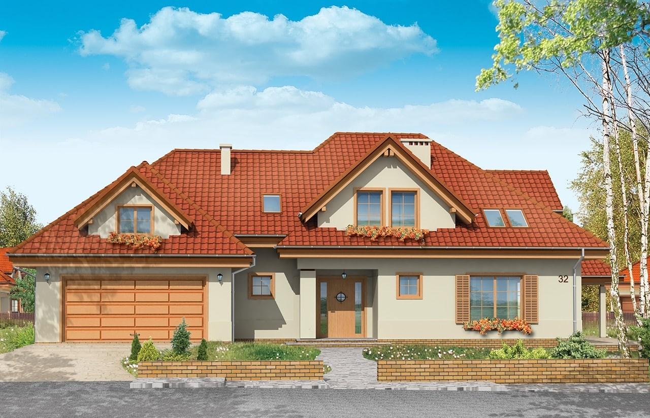 Projekt domu Joanna - wizualizacja frontowa