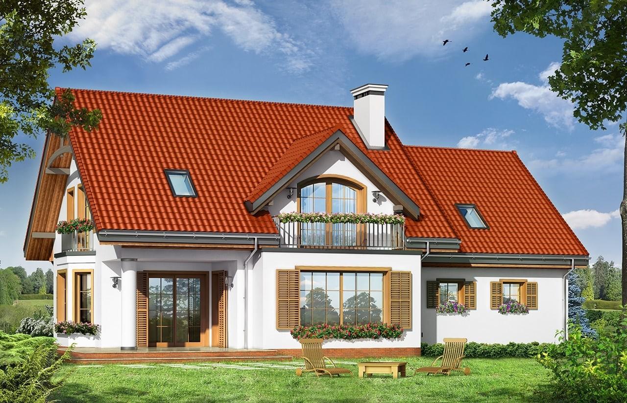 Projekt domu Julka 3 - wizualizacja tylna