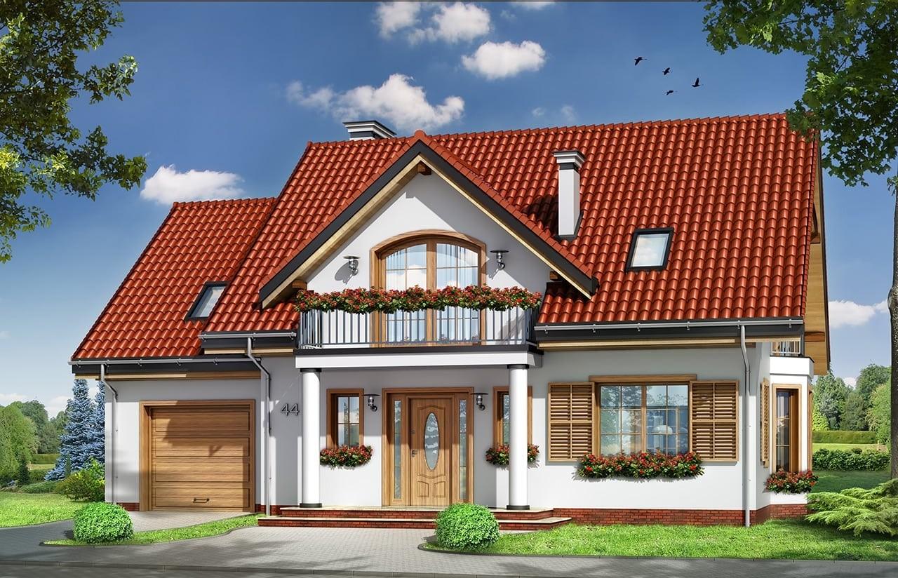 Projekt domu Julka 4 - wizualizacja frontowa