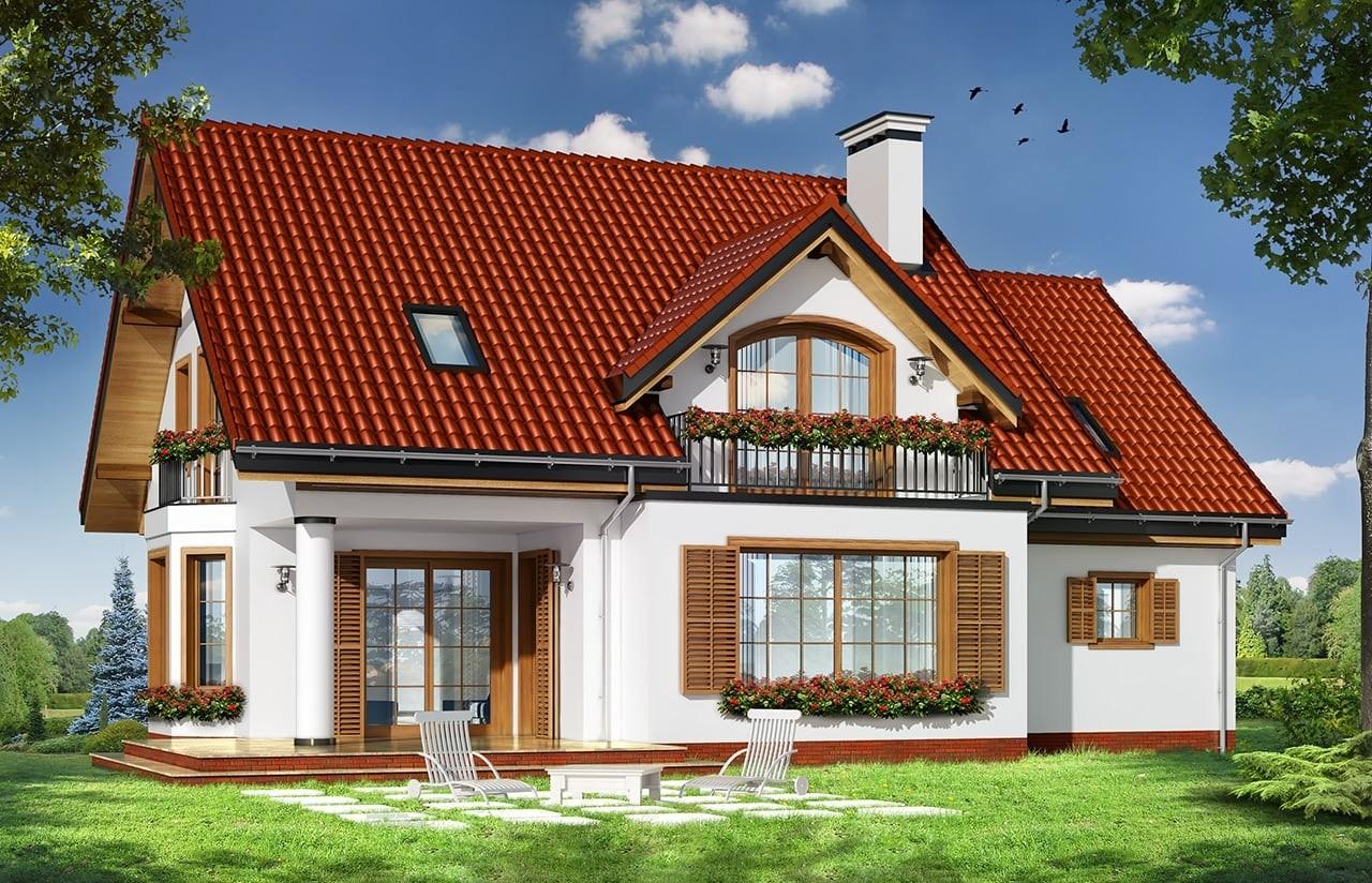 Projekt domu Julka 4 - wizualizacja tylna