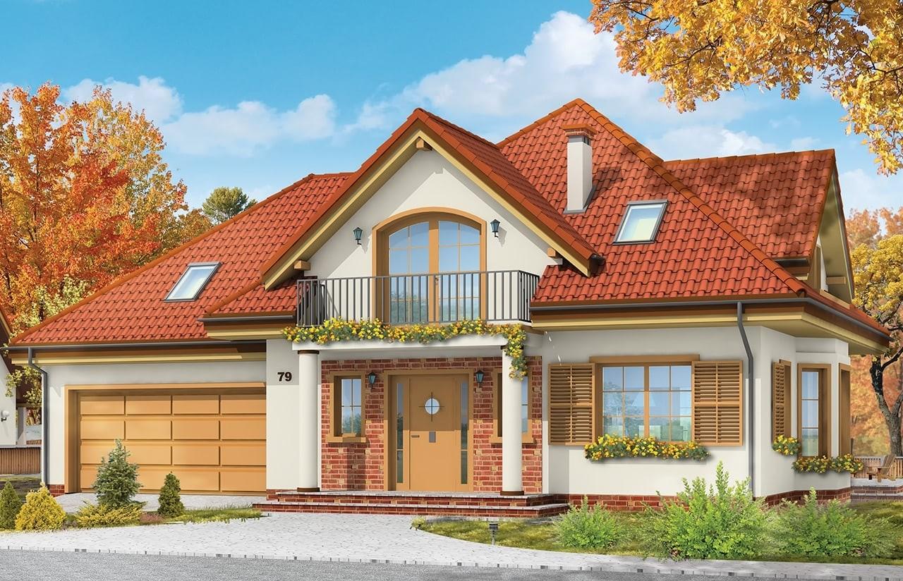 Projekt domu Julka - wizualizacja frontowa