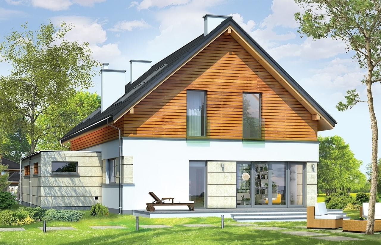 Projekt domu Jurajski - wizualizacja tylna