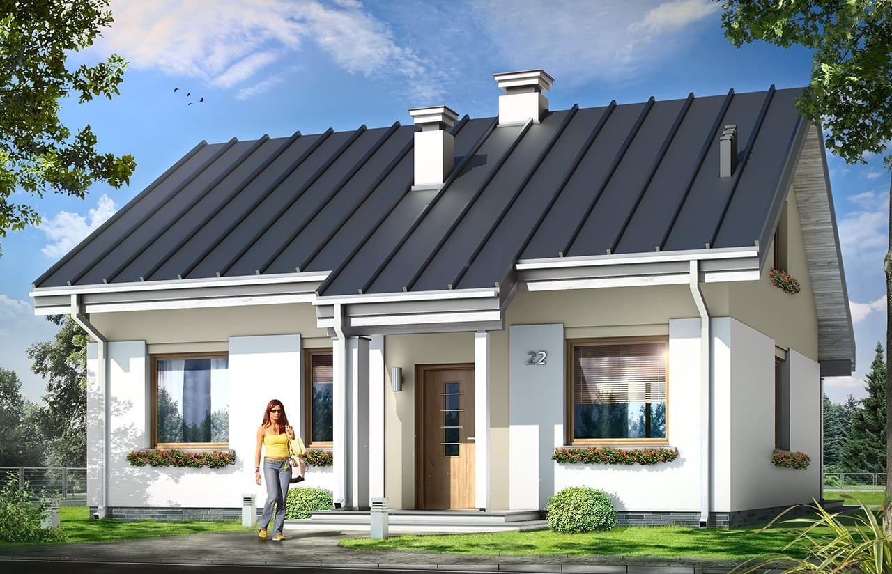Projekt domu Kajtek - wizualizacja frontowa