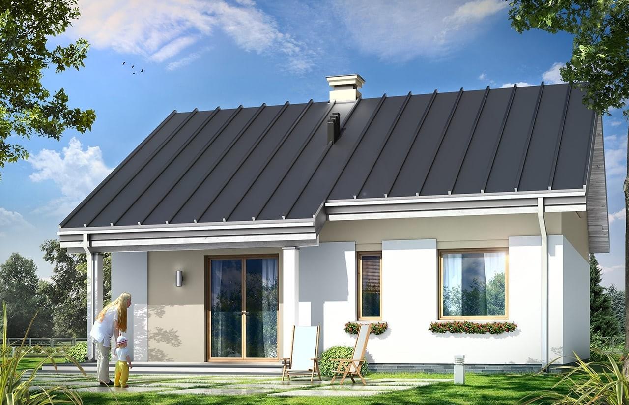 Projekt domu Kajtek - wizualizacja tylna