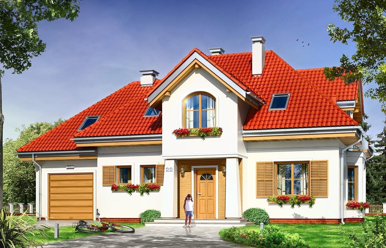 Projekt domu Kameralny - wizualizacja frontowa