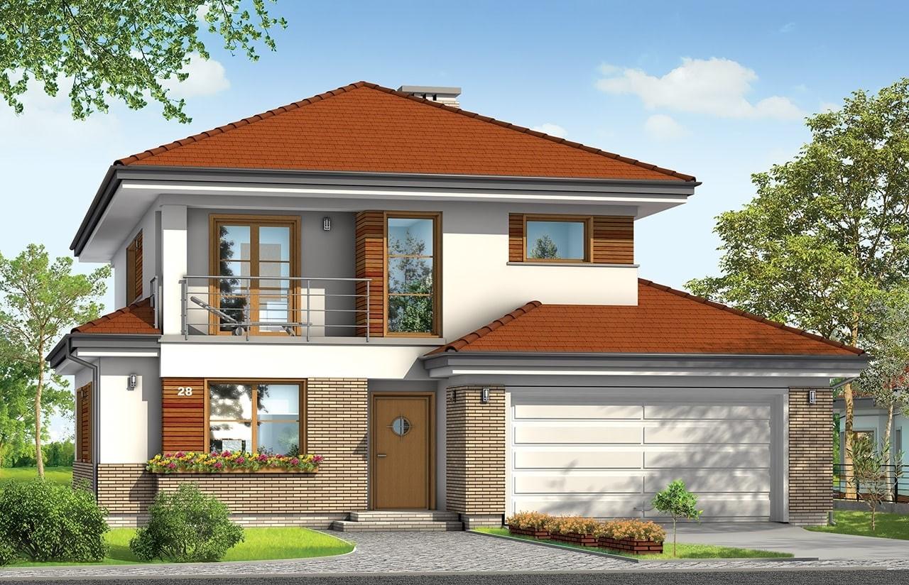 Projekt domu Kasjopea 3 - wizualizacja frontowa