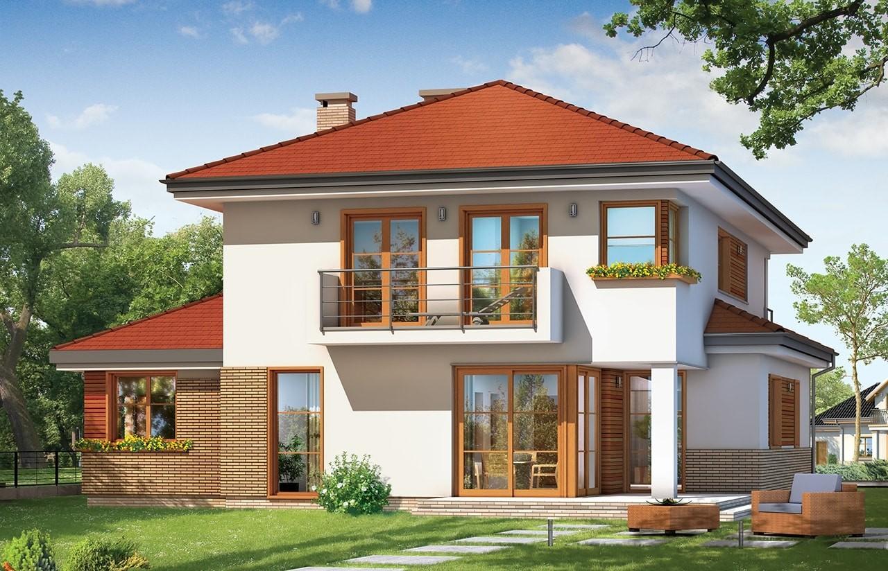 Projekt domu Kasjopea 3 - wizualizacja tylna
