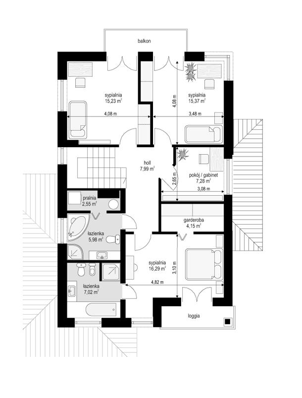Kasjopea 4 - rzut piętra