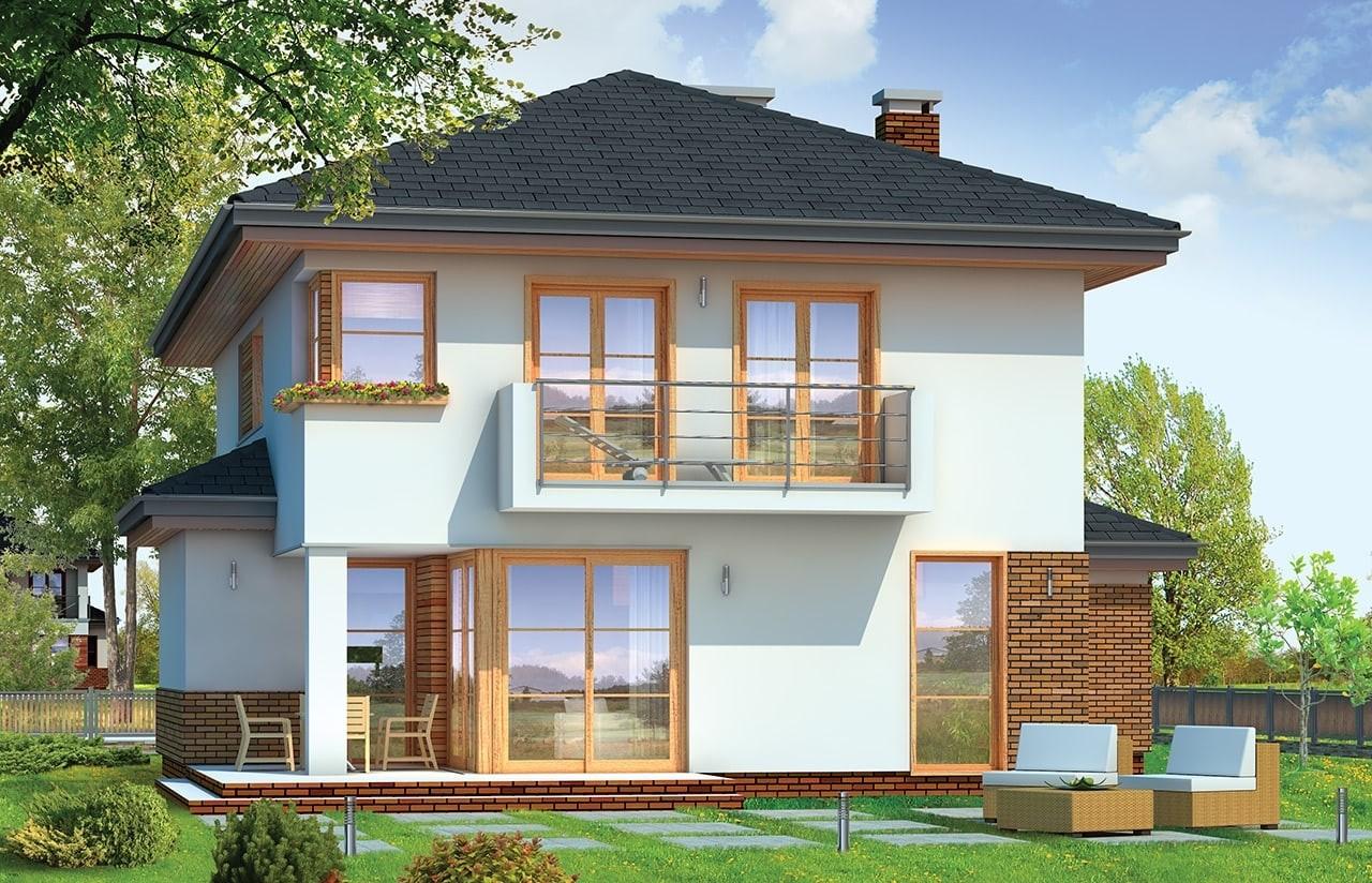Projekt domu Kasjopea 4 - wizualizacja tylna
