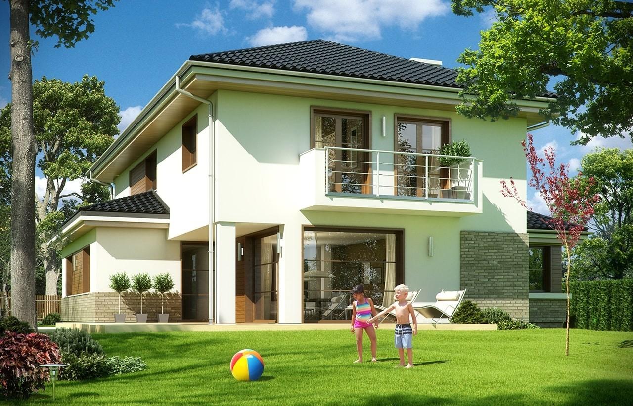 Projekt domu Kasjopea 5 - wizualizacja tylna