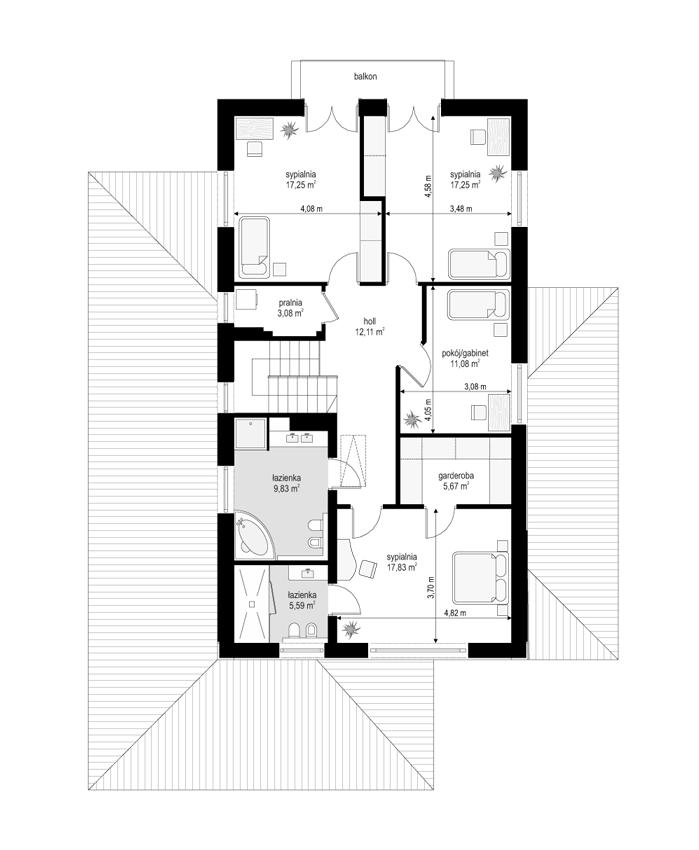 Kasjopea 6 - rzut piętra