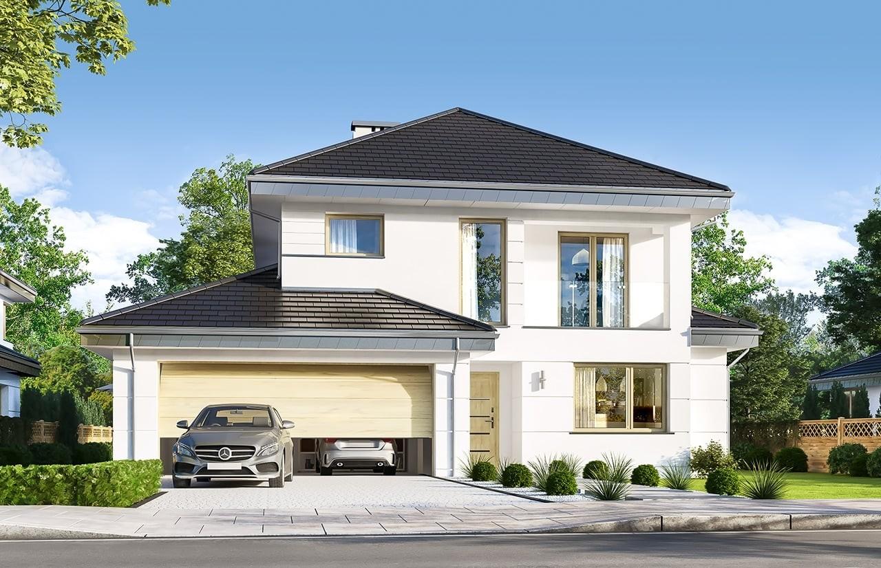 Projekt domu Kasjopea 7 B - wizualizacja frontowa
