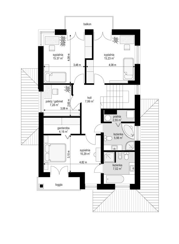 Kasjopea - rzut piętra