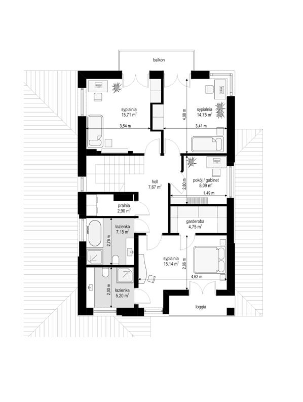 Kasjopea 7 - rzut piętra