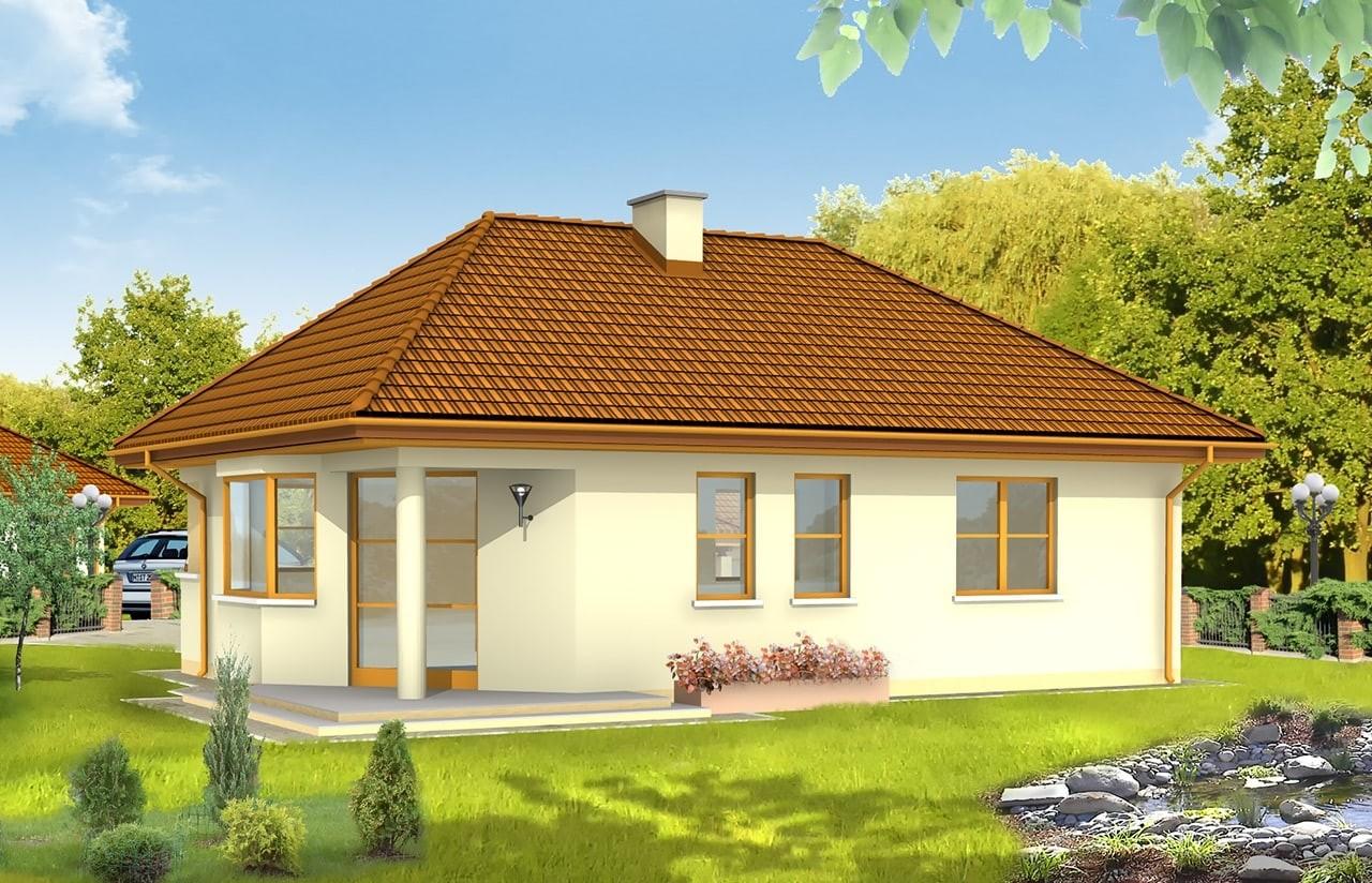 Projekt domu Klejnot - wizualizacja tylna