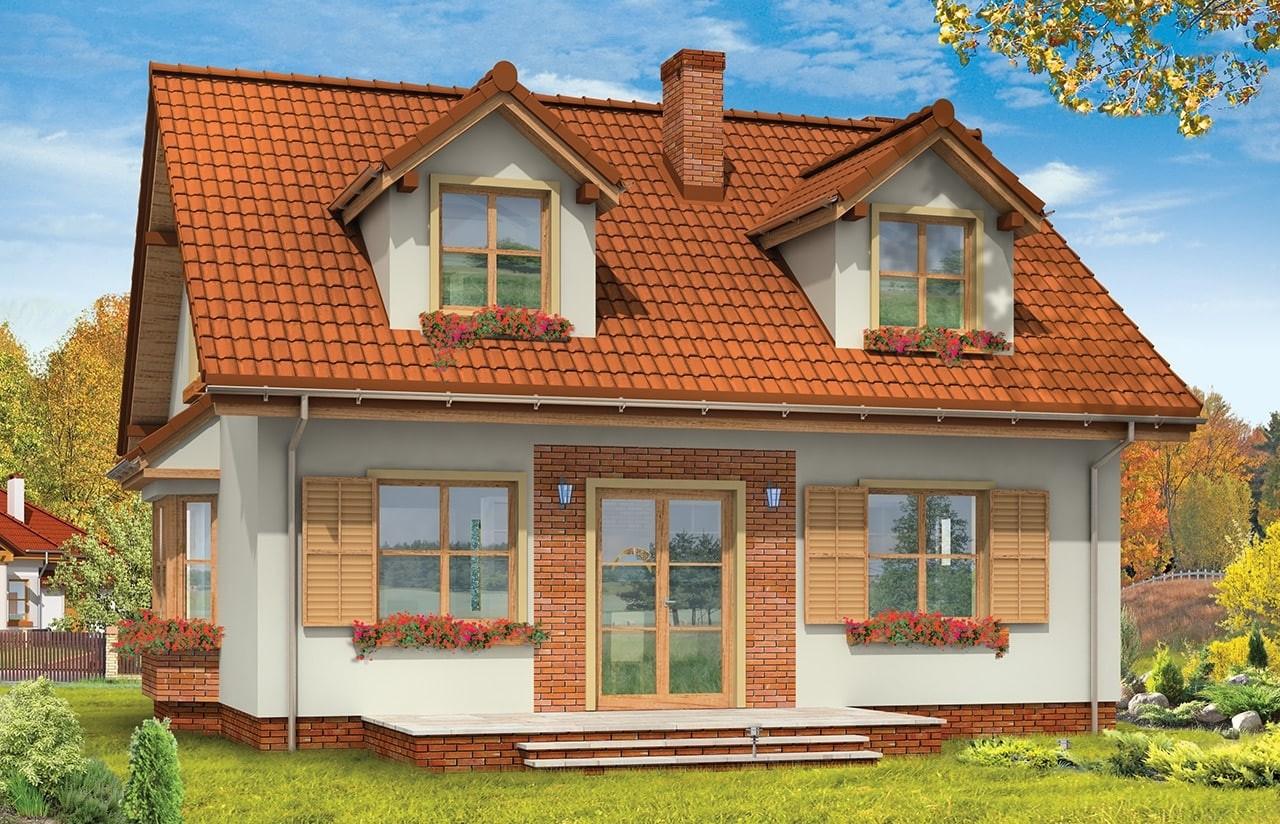 Projekt domu Klif - wizualizacja tylna